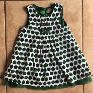 The Children's Place green dot dress 24 mo